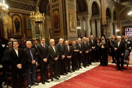 Από την πανηγυρική δοξολογία για την πρώτη του νέου έτους στον Μητροπολιτικό Ναό της Αθήνας, προεξάρχοντος του Αρχιεπισκόπου Αθηνών και πάσης Ελλάδος κ_Ιερωνύμου,στις 3 Ιανουαρίου 2017.