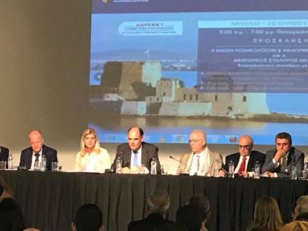 Προεδρέυων και εισηγητής στο Πανελλήνιο Συνέδριο της Ένωσης Ποινικολόγων και Μαχόμενων Δικηγόρων και του Δικηγορικού Συλλόγου Ναυπλίου,στις 10 Ιουνίου 2017.