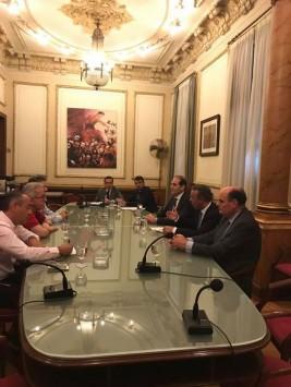 Συνάντηση εργασίας του Τομέα Οικονομικών της ΝΔ με το Προεδρείο της ΓΣΕΕ,στις 07 Ιουνίου 2017.