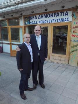 Με τον Δήμαρχο Καρπενησίου Νικόλαο Σουλιώτη,στις 04 Μαΐου 2017.