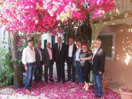 Με τους φίλους Λευκαδίτες στην όμορφη πόλη τους ,στις 16 Ιουνίου 2015.