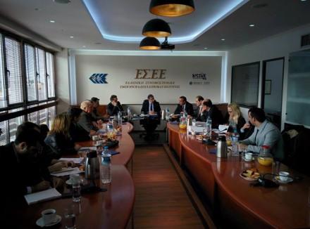 Συναντηθήκαμε μαζί με τον Τομεάρχη Οικονομικών κ.Χρήστο Σταϊκούρα και τον Βουλευτή ΝΔ κ. Απόστολο Βεσυρόπουλο με το Προεδρείο της Ελληνικής Συνομοσπονδίας Εμπορίου και Επιχειρηματικότητας,στις 18 Ιανουαρίου 2017.
