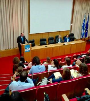 Από την έναρξη του Φορολογικού Συνεδρίου μεταπτυχιακών φοιτητών της Νομικής Σχολής στο Πανεπιστήμιο Αθηνών,στις  27 Σεπτεμβρίου 2017.