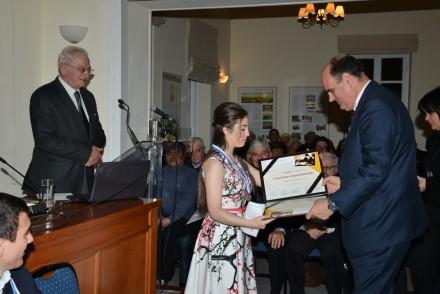 Στην απονομή Βραβείων του ΙΔ' Μαθητικού Διαγωνισμού Δοκιμίου για τον Ελευθέριο Βενιζέλο στις 26 Μαρτίου 2016 στα Χανιά.