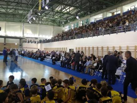 Από τα εγκαίνια του κλειστού Γυμναστηρίου Π.Φαλήρου Σοφία Μπεφόν που πραγματοποιήθηκαν από τον Πρόεδρο της Δημοκρατίας κ.Προκόπη Παυλόπουλο,στις 16 Οκτωβρίου 2017.