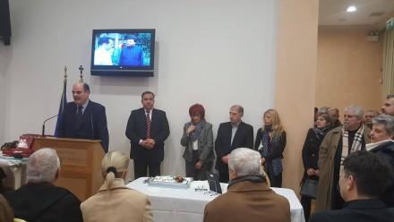 Από την κοπή πίτας της ΔΗΜ-ΤΟ ΝΔ του 6ου Διαμερίσματος του Δήμου ΑΘηναίων στο Ίδρυμα Ματάλα. Στη φωτογραφία μαζί με τον Πρόεδρο Κωνσταντίνο Πλατόπουλο