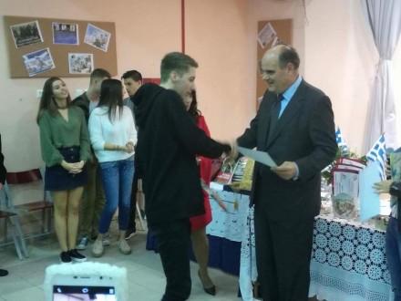 Από τη βράβευση μαθητών και το χαιρετισμό μου για την Εθνική Γιορτή στο Λύκειο Καλάμου,στις 28 Οκτωβρίου 2017.