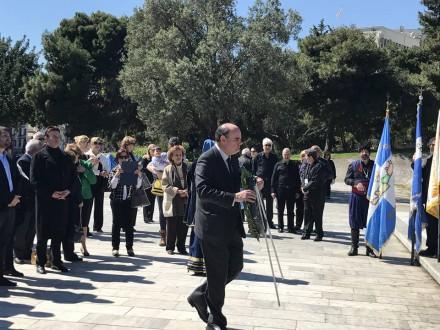 Από το ετήσιο μνημόσυνο του Ελευθερίου Βενιζέλου στην Αθήνα, στις 02 Απριλίου 2017.