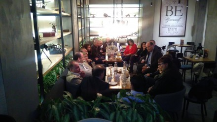 Από την συνάντηση με εκπροσώπους του Συλλόγου Αγκαλιά,στις 19 Φεβρουαρίου 2017.