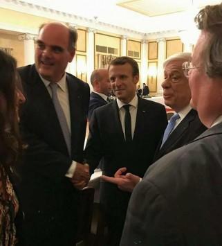 Από το δείπνο του Προέδρου της Δημοκρατίας με τον Πρόεδρο της Γαλλικής Δημοκρατίας και τη σύζυγό του,στις 10 Σεπτεμβρίου 2017.