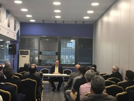 Από τον Τομέα Οικονομικών στα Κεντρικά Γραφεία της ΝΔ,όπου παρέστησαν και οι συνάδελφοι μου κυρία Γεωργία Μαρτίνου και κύριος Δημήτρης Σταμάτης,στις 18 Οκτωβρίου 2017.