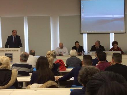 Από το χαιρετισμό μου ως εκπρόσωπος του Προέδρου της ΝΔ κ. Κυριάκου Μητσοτάκη στο Πανελλήνιο Συνέδριο Σχολικών Κυλικείων που πραγματοποιήθηκε στα Χανιά στο ΕΒΕΧ ,στις 27 Μαρτίου 2016.