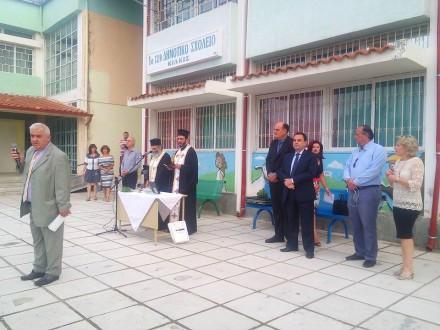 Μαζί με τον Βουλευτή της ΝΔ στο Κιλκίς και πρώην Υφυπουργό Παιδείας κ_ Γεώργιο Γεωργαντά στον Αγιασμό του 1ου και 6ου Δημοτικού Σχολείου Κιλκίς,στις 12 Σεπτεμβρίου 2016.