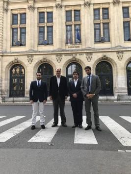 Με την ΟΝΝΕΔ Γαλλίας σε μια συνάντηση όλης της ύλης στο Πανεπιστήμιο της Σορβόννης στο Παρίσι,στις 26 Σεπτεμβρίου 2017.